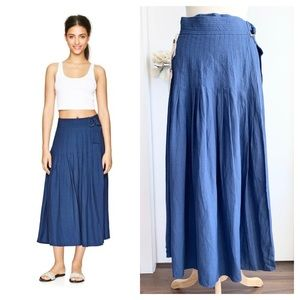 Aritzia Wilfred Le Fou Piccolo long wrap skirt